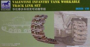 Bronco AB3536 British Valentine Infantry Tank Workable Track Link Set 1/35
