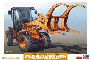 Hasegawa 66105 Hitachi Wheel Loader ZW100-6 Log Grapple Working Machine 1/35