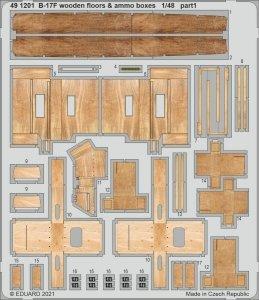 Eduard 491201 B-17F wooden floors & ammo boxes HK Models 1/48
