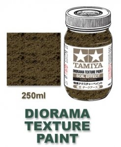 Tamiya 87121 Diorama Texture Paint 250ml - Soil Effect, Dark Earth