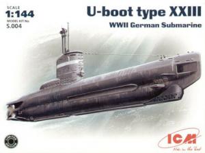 ICM S004 U-Boot type XXIII WWII German submarine 1/144