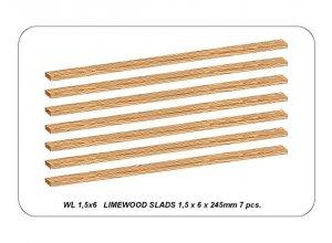 Aber WL1,5x6 Listwy drewniane 1,5x6x245 mm