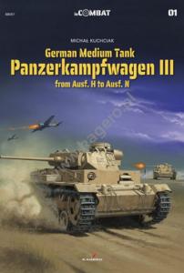 Kagero 88001 German Medium Tank Panzerkampfwagen III from Ausf. H to Ausf. N EN/PL