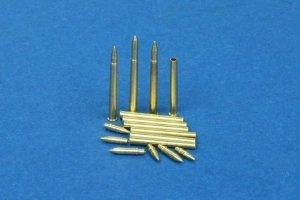 RB Model 48P09 7.5cm Pak 40 3 x pocisk przeciwpancerny 3 x pocisk podkalibrowy 3 x pocisk odłamkowy 12 łusek 7,5 cm PaK. 40 L/46 & L/48, Marder I & II & II,  SdKfz 234/4, SdKfz 251/22 (1:48)