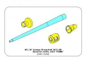 Aber 48L-34 German 50mm KwK39/1 L/60 Barrel for Sd.Kfz.234/2 & PUMA (1:48)
