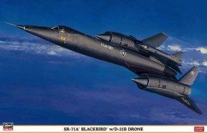 Hasegawa 02041 SR-71A Blackbird w/ D-21B Drone 1/72