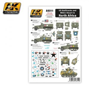AK Interactive AK 811 US HALFTRACKS AND M5A1 IN NORTH AFRICA WET TRANSFER