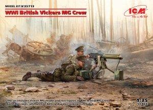 ICM 35713 WWI British Vickers MG Crew (Vickers MG & 2 figures) 1/35