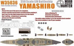 Wood Hunter W35036 Wood deck  IJN Yamshiro for Fujimi 60006 1/350