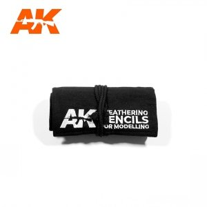 AK Interactive AK 10048 WEATHERING PENCILS FULL RANGE CLOTH CASE