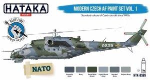 Hataka Hobby HTK-BS89 Modern Czech AF paint set vol. 1 (6x17ml)