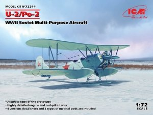 ICM 72244 U-2/Po-2, WWII Soviet Multi-Purpose Aircraft 1/72
