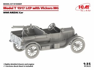 ICM 35607 WWI ANZAC Car Model T 1917 LCP with Vickers MG 1/35