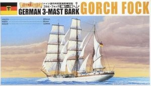 Aoshima 04428 German 3-Mast Bark Gorch Fock 1/350