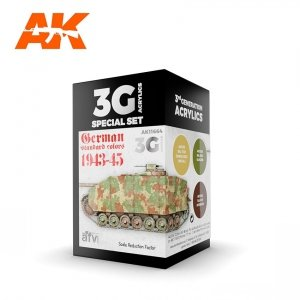 AK Interactive AK 11664 GERMAN STANDARD COLORS 1943-1945 3x17 ml