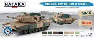 Hataka Hobby HTK-BS67 Modern US Army and USMC AFV Paint Set (8x17ml)