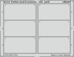 Eduard 36414 Panther Ausf. G schürzen 1/35 ACADEMY