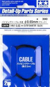 Tamiya 12676 Cable OD 0.65mm black Length 2m