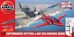 Airfix 50187 Supermarine Spitfire & RAF Red Arrows Hawk - Gift Set 1/72