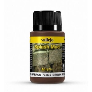 Vallejo 73805 Splash Mud -  Brown Splash Mud 40ml