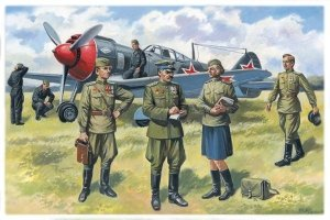 ICM 48084 Soviet Air Force Pilots and Ground Personnel (1943-1945) (1:48)