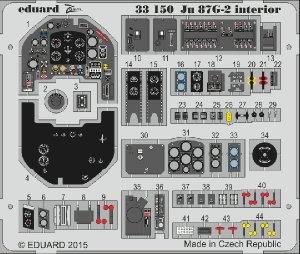Eduard 33150 Ju 87G-2 interior Trumpeter 03218 1/35