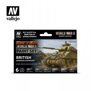 Vallejo 70204 WWII British Armour & Infantry 6x17ml