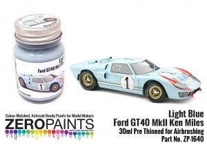 Zero Paints ZP-1640 Light Blue Ford GT40 Mk II Ken Miles Paint 30ml