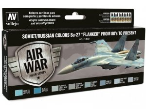 Vallejo 71602 Soviet / Russian Colors Su-27 Flanker from 80 s to Present 8x17 ml