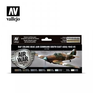 Vallejo 71146 RAF colors SEAC (Air Command South East Asia) 1942-1945 8 x 17 ml