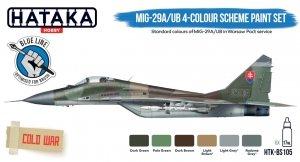 Hataka HTK-BS105 MiG-29A/UB 4-colour scheme paint set