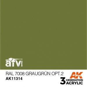 AK-Interactive AK 11314 RAL 7008 GRAUGRÜN OPT 2 17ml
