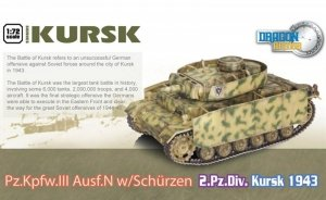Dragon 60614 Pz.Kpfw.III Ausf.N w/Schurzen 2.Pz.Div. Kursk 1943 (1:72)