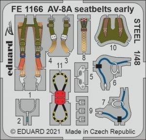 Eduard FE1166 AV-8A seatbelts early STEEL KINETIC 1/48
