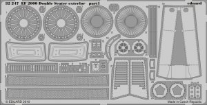 Eduard 32247 EF 2000 Two-seater exterior TRUMPETER 1/32