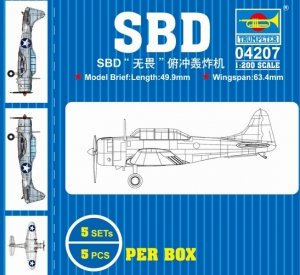 Trumpeter 04207 SBD fearless dive bomber 1/200