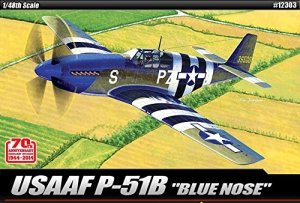 Academy 12303 USAAF P-51B BLUE NOSE 1:48