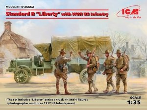 ICM 35652 Standard B Liberty with WWI US Infantry 1/35