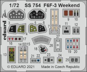 Eduard SS754 F6F-3 Weekend EDUARD 1/72
