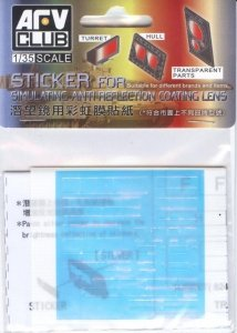 AFV Club AC35015 Sticker for simulating Anti reflection coating lens For Leopard 2 A6EX (1:35)