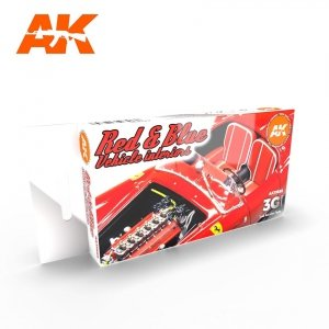 AK Interactive AK 11685 RED & BLUE VEHICLE INTERIORS 6x17 ml