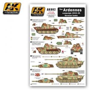 AK Interactive AK 802 Kalkomania ARDENNES campaign 1944-45 German tanks