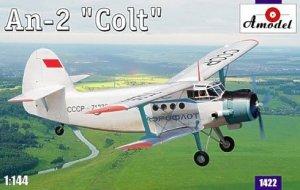 A-Model 01422 Soviet Antonov AN-2 Colt (Aeroflot biplane) 1:144
