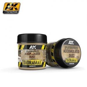 AK Interactive AK 8031 Splatter Effects Accumulated Dust 100ML