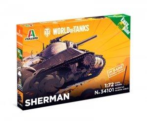 Italeri 34101 World of Tanks - SHERMAN - Easy to Build 1/72