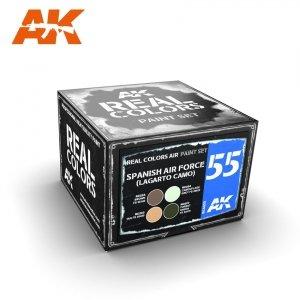 AK Interactive RCS055 SPANISH AIR FORCE (LAGARTO CAMO) 4x10ml
