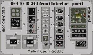 Eduard 49440 B-24J front interior 1/48 Revell