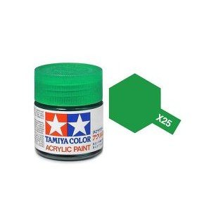 Tamiya 81025 Acryl X-25 Clear Green 23ml