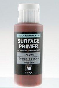 Vallejo 73605 Surface Primer German Red Brown 60ml
