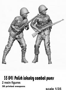 Glowel Miniatures 35041 Polish infantry combat poses 1/35